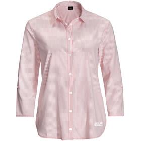 Jack Wolfskin South Port LS-skjorte Damer, rød/hvid